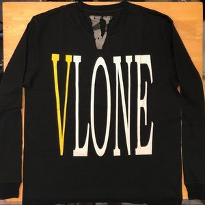 Vlone Staple Yellow / Black Long Sleeve T Shirt